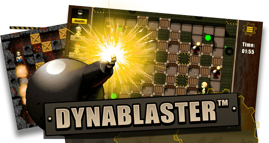 Dynablaster logo - contacts