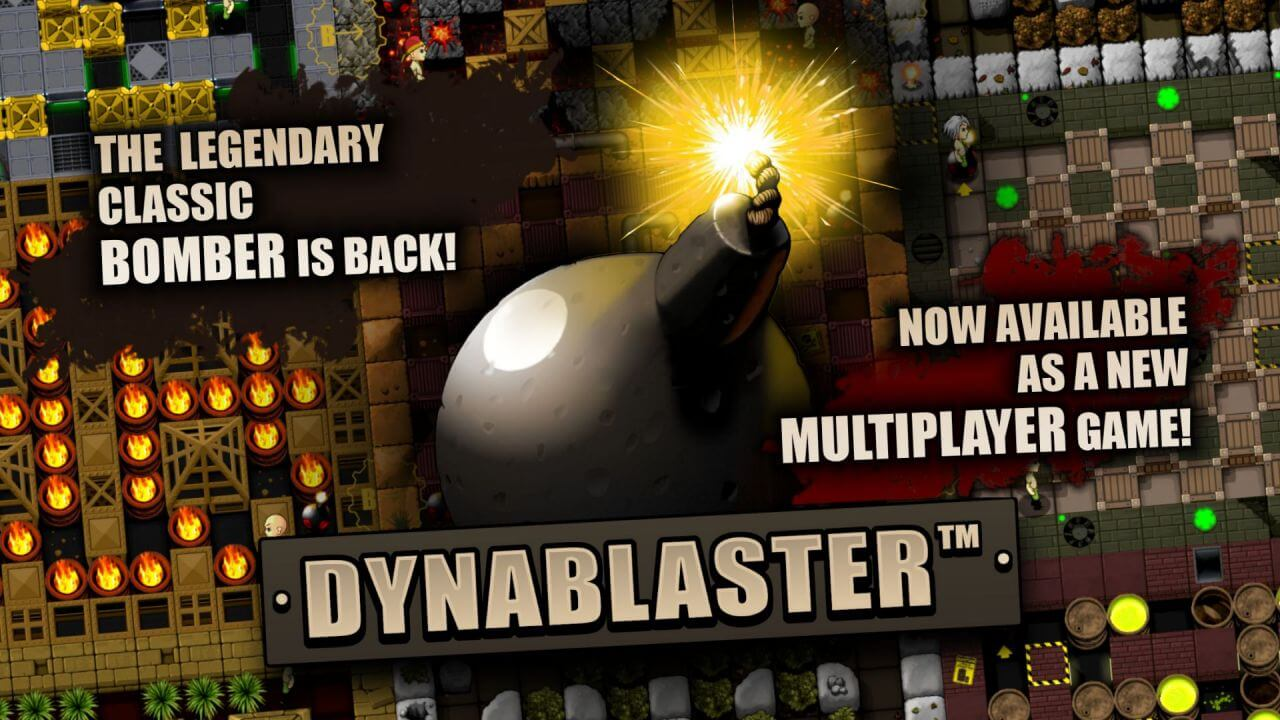 Dynablaster - splash screen - contacts