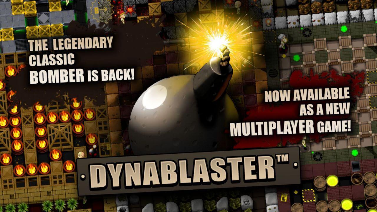 Dynablaster - splash screen - contacts