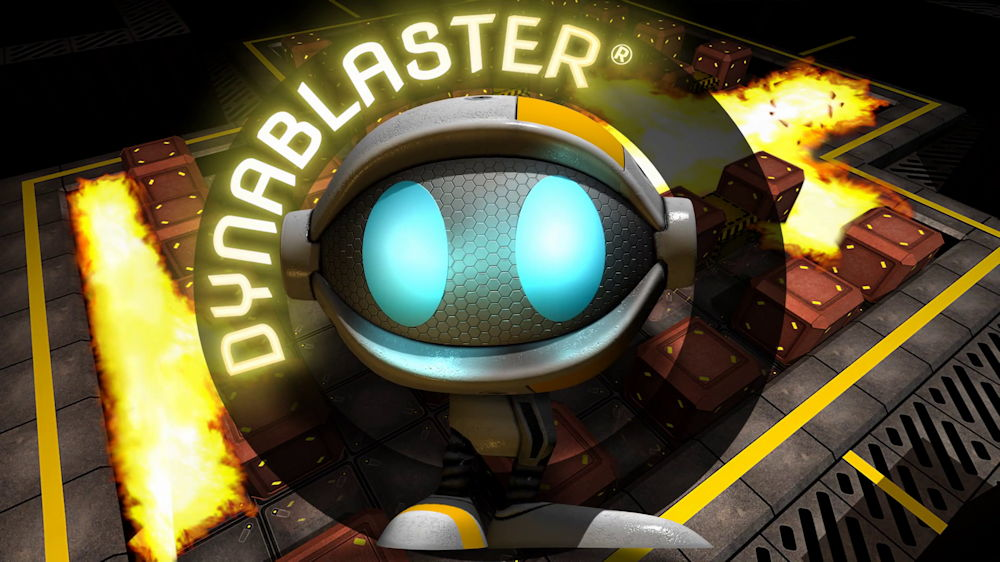 Dynablaster web title image splash screen