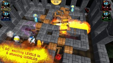 Dynablaster Screenshot Worlds and levels - castle world