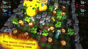 Dynablaster Screenshot Cooperative mode - forest level